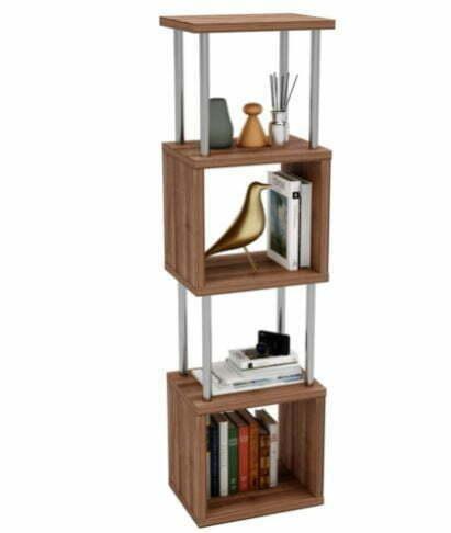 Types of Bookcases: Bustier 5-Tier Geometric Bookshelf