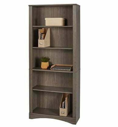 "Types of Bookcases: Realspace Pelingo 72""H 5-Shelf Bookcase"