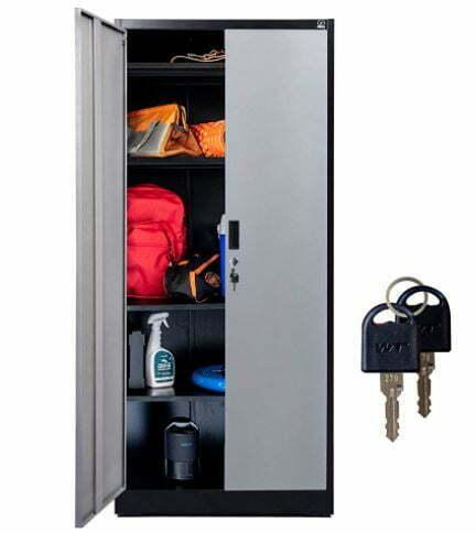 "mudroom lockers: Fedmax Metal Storage Cabinet - 71"" Tall w/ Locking Doors & Adjustable Shelves"