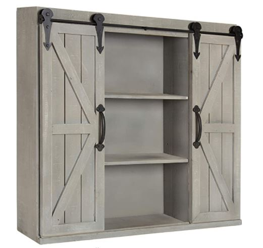 Types of Mudroom Lockers: Kate and Laurel Cates Wood Wall Storage Cabinet