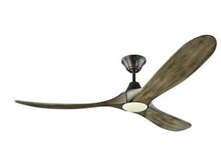 """Types of Ceiling Fans: Monte Carlo 3MAVR60AGPD Maverick Modern Energy Star 60"""" Ceiling Fan with LED Light"""