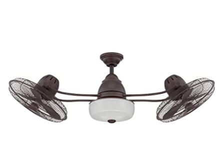 Types of Ceiling Fans: Craftmade Outdoor Dual Motor Ceiling Fan with Light