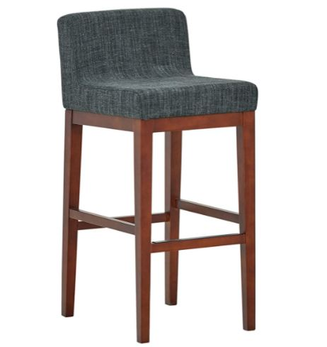 bar stools with backs: Solid-Back Barstool-Set of 2, Premium Plastic