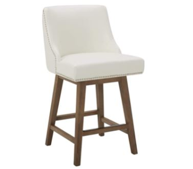 bar stools with backs: CHITA Counter Height Swivel Barstool