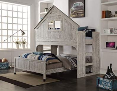 Different Types of Bunk Beds: Donco Kids Club House Tall Loft Bed with Caster