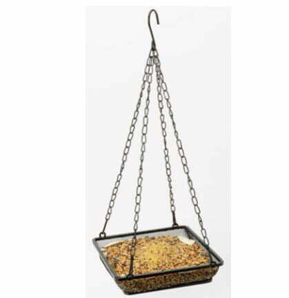types of bird feeders: WOSIBO Hanging Bird Feeder Tray