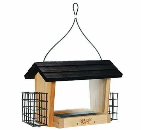 types of bird feeders: Nature's Way Bird Products CWF19 Cedar Hopper Bird Feeder