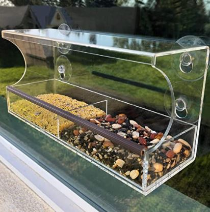 types of bird feeders: Window Bird Feeders with Strong Suction Cups