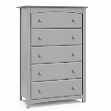 Types of Dressers: Storkcraft Kenton 5 Drawer Universal Dresser