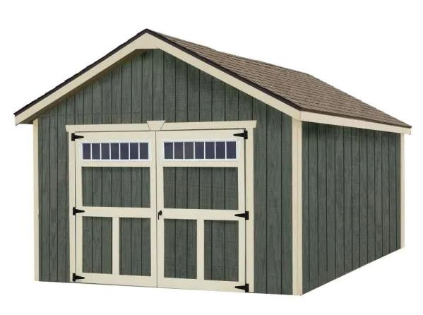 types of garages: Dover 12 ft. x 24 ft. Wood Garage Kit without Floor