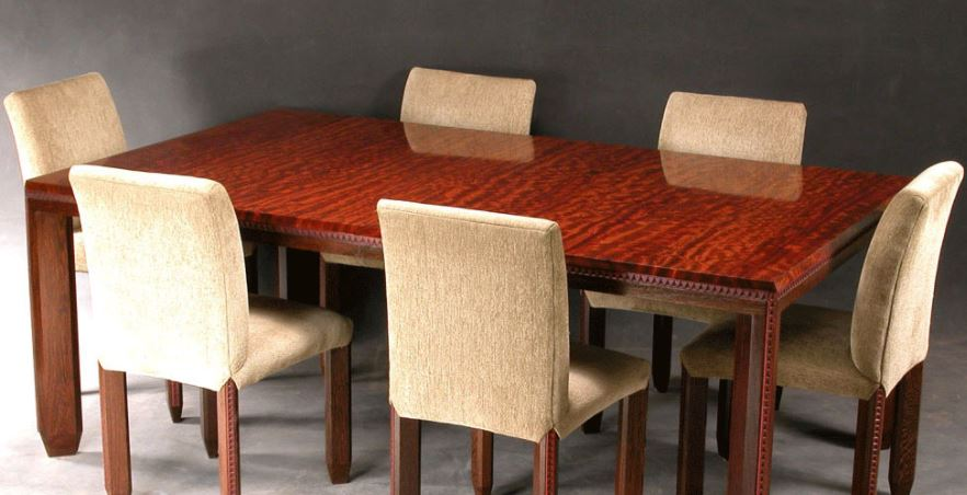 types of tables: Incised Detail Dining Room Table