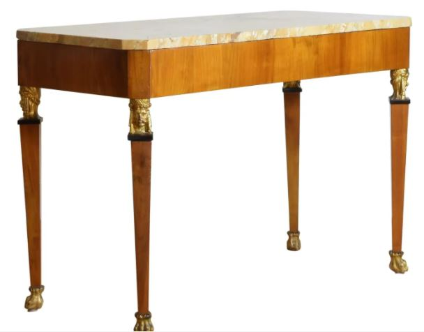 types of tables: Central Italian First Empire Center